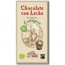 Шоколад молочный Chocolates Solé органический, 100 г