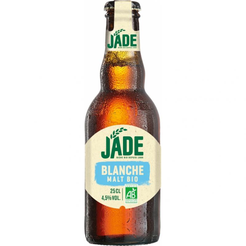 Пиво светлое нефильтрованное органическое Jade Blanche, упаковка 6х250 мл