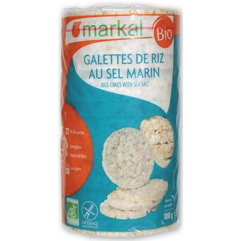 Хлебцы рисовые с морской солью Markal органические, 100 г