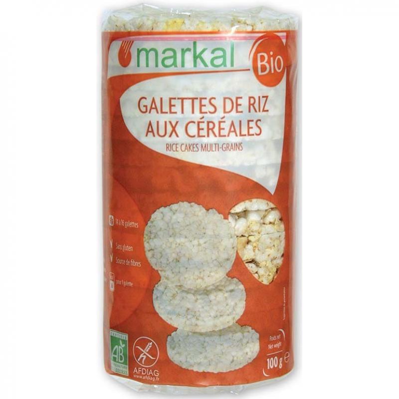 Рисовые хлебцы Markal с просом, кукурузой и кунжутом органические, 100 г