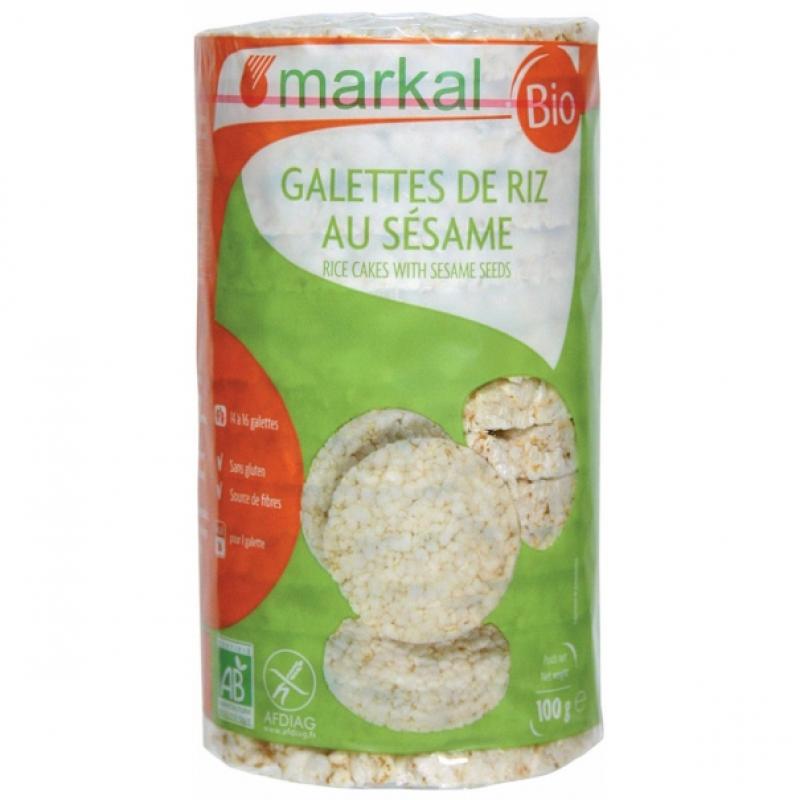 Хлебцы рисовые с кунжутом Markal органические, 100 г