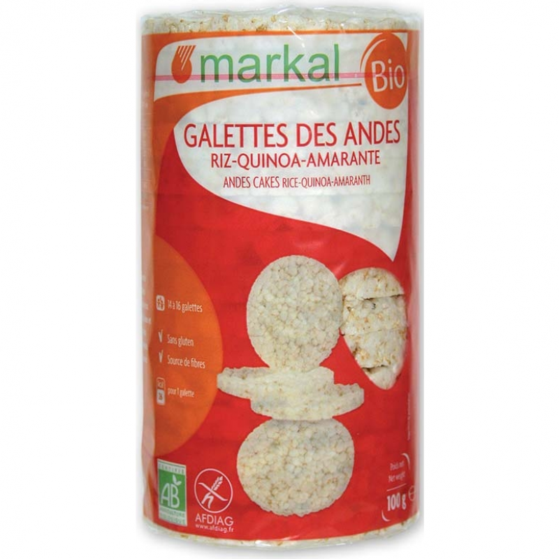 Хлебцы рисовые с киноа и амарантом Markal органические, 100 г