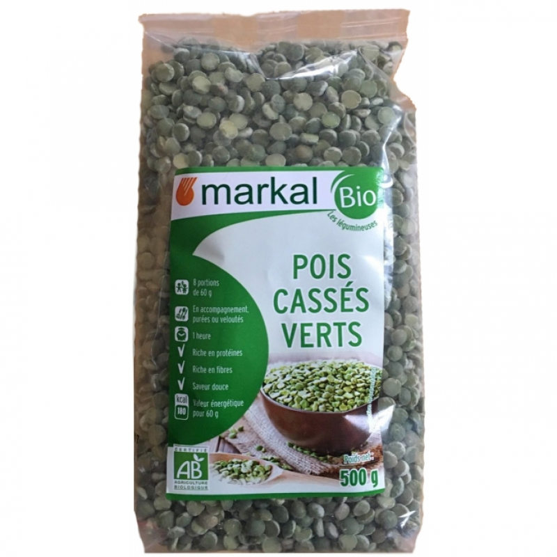 Горох колотый Markal органический, 500 г