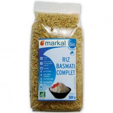 Рис басмати длиннозёрный коричневый Markal органический, 500 г