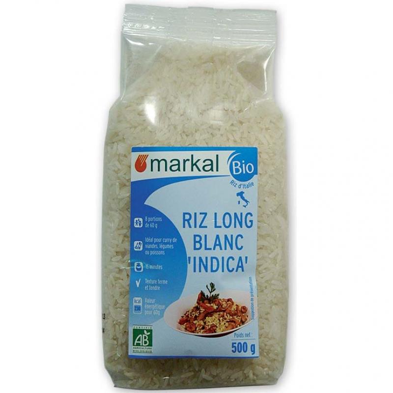 Рис Индика длиннозёрный Markal органический, 500 г