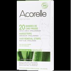 """Восковые полоски для депиляции зоны бикини и подмышек """"Алоэ и пчелиное молочко"""" Acorelle органические, 20 шт."""