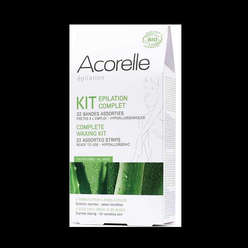 """Восковые полоски для депиляции тела """"Алоэ и пчелиное молочко"""" Acorelle органические, 32 шт."""