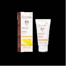 Крем солнцезащитный для лица SPF 50 с эффектом пудры Acorelle органический, 50 мл