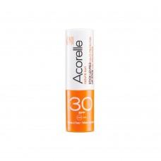Бальзам для губ солнцезащитный SPF 30 органический Acorelle, 4 г