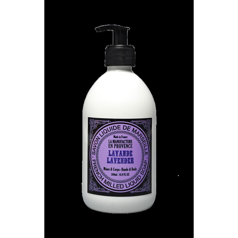 """Жидкое мыло """"Лаванда"""" La Manufacture en Provence органическое, 500 мл"""