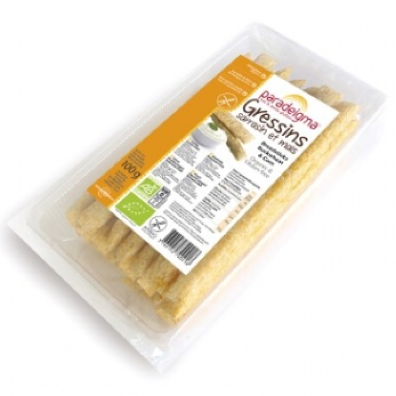 Хлебные палочки из гречневой и кукурузной муки Paradeigma органические, 100 г