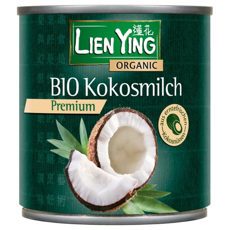 Кокосовое молоко (сливки) премиум Lien Ying органическое, 270 мл