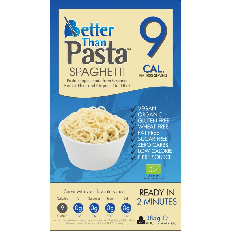 Спагетти из муки коньяку Better Than Pasta органические, 385 г