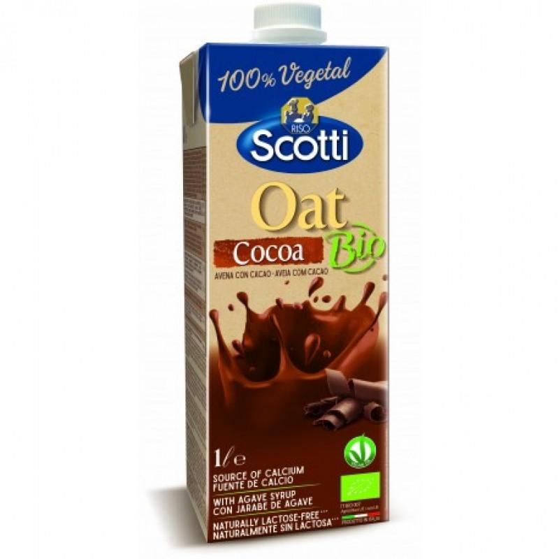 Напиток овсяный с какао органический Riso Scotti, 1 л