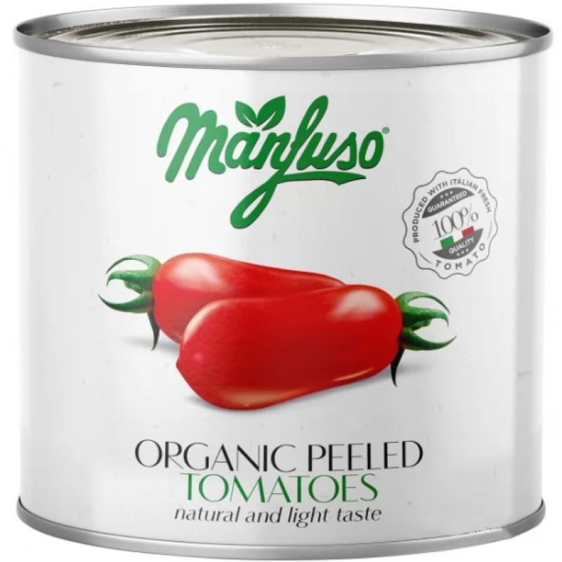Томаты целые очищенные Manfuso органические 2,5 кг