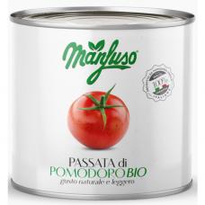 Томаты нарезанные Manfuso органические 2,5 кг