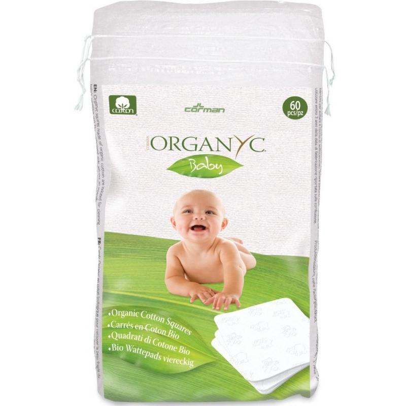 Хлопковые подушечки детские органические Organyc, 60 шт.