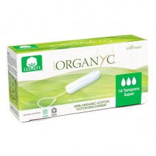 Тампоны Super для интенсивных выделений органические Organyc, без аппликатора, 16 шт.