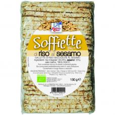 Хлебцы рисовые с кунжутом Soffiette La Finestra Sul Cielo органические, 130 г