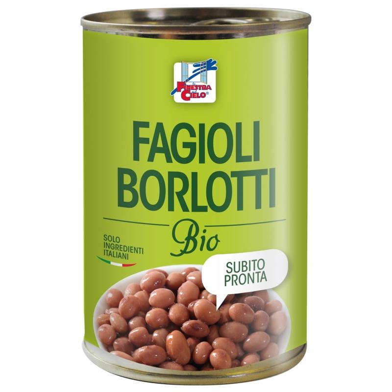 Фасоль борлотти La Finestra Sul Cielo органическая, 400 г