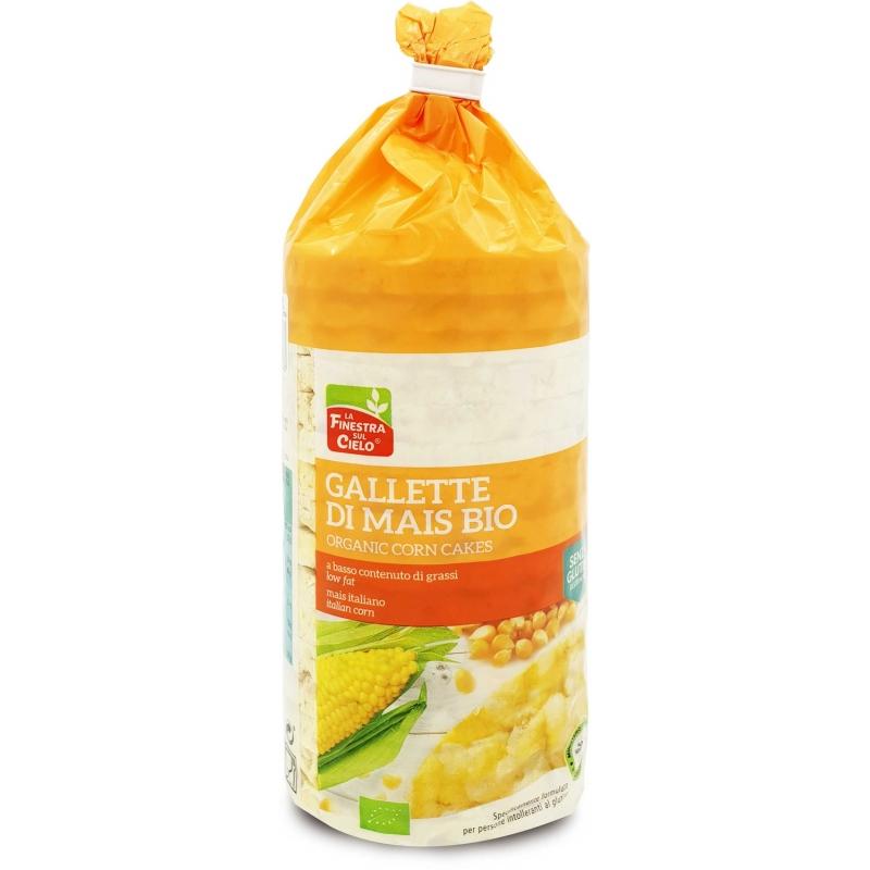 Хлебцы кукурузные с морской солью La Finestra Sul Cielo органические, 110 г