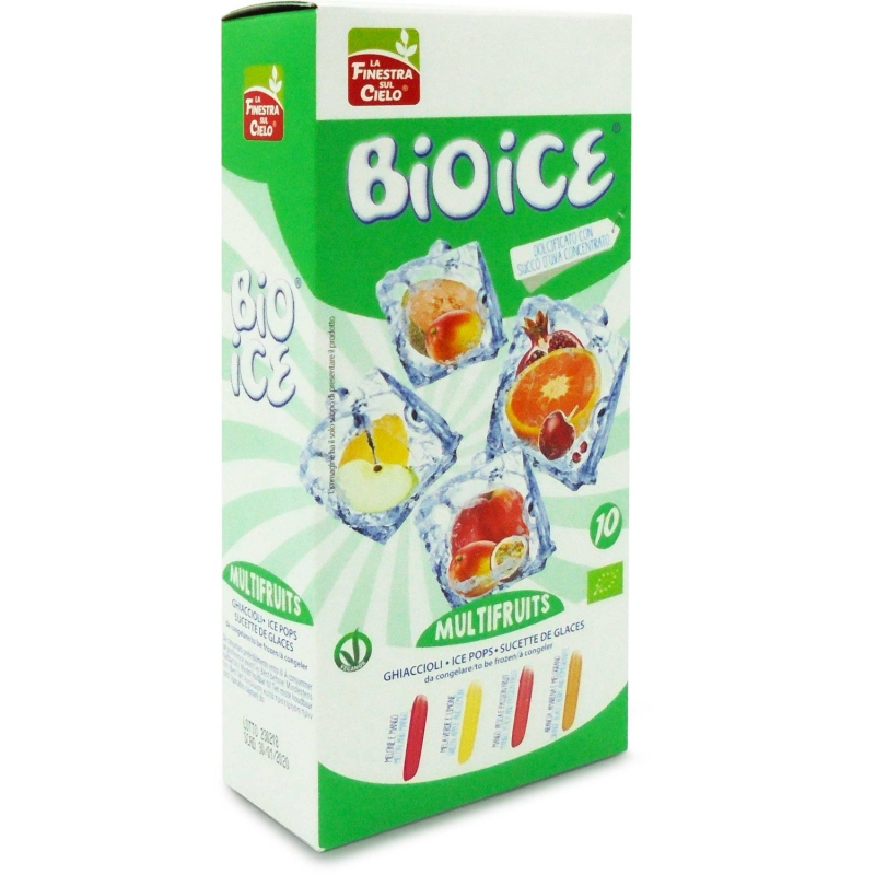 Напиток для замораживания La Finestra Sul Cielo Bio Ice Multifruits органический, 400 мл (10х40 мл)