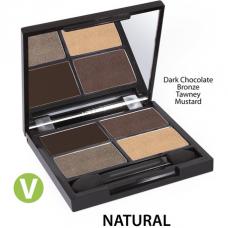 Палитра теней Квадро Zuii Organic Quad Eyeshadow Palette органическая