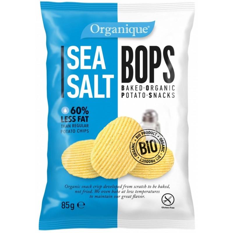 Картофельные снеки с морской солью органические BOPS, 85 г
