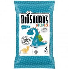 Кукурузные снеки Biosaurus с морской солью органические, 4x15 г