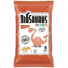 Кукурузные снеки Biosaurus с кетчупом органические, 4x15 г