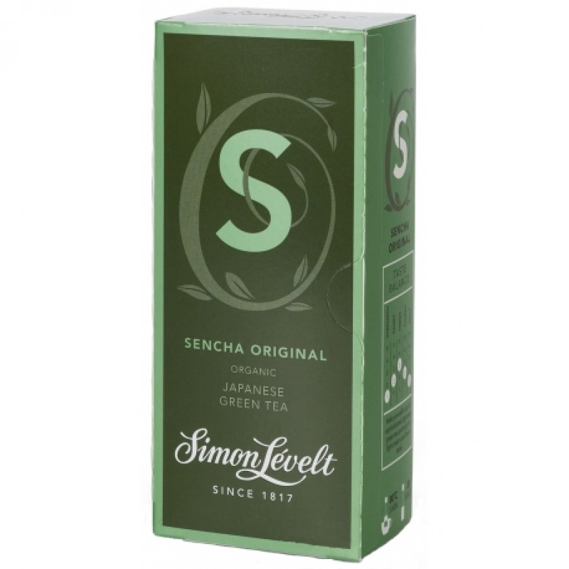 Чай зеленый Sencha Original Simon Lévelt органический, 20 пакетиков