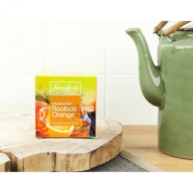 Чай травяной ройбуш Rooibos Orange Simon Lévelt органический, 10 пакетиков