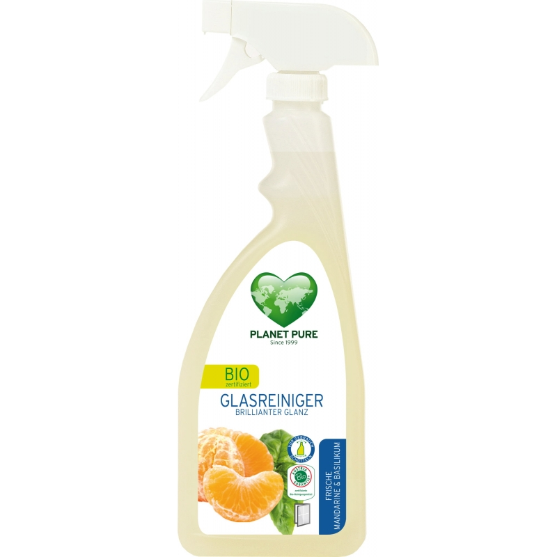 """Средство для мытья стекол """"Мандарин и базилик"""" Planet Pure спрей органический, 510 мл"""