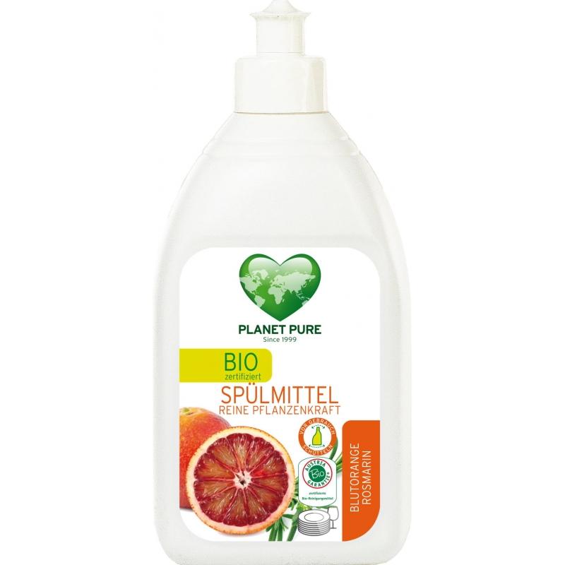 """Средство для мытья посуды """"Красный апельсин и розмарин"""" Planet Pure органическое, 510 мл"""
