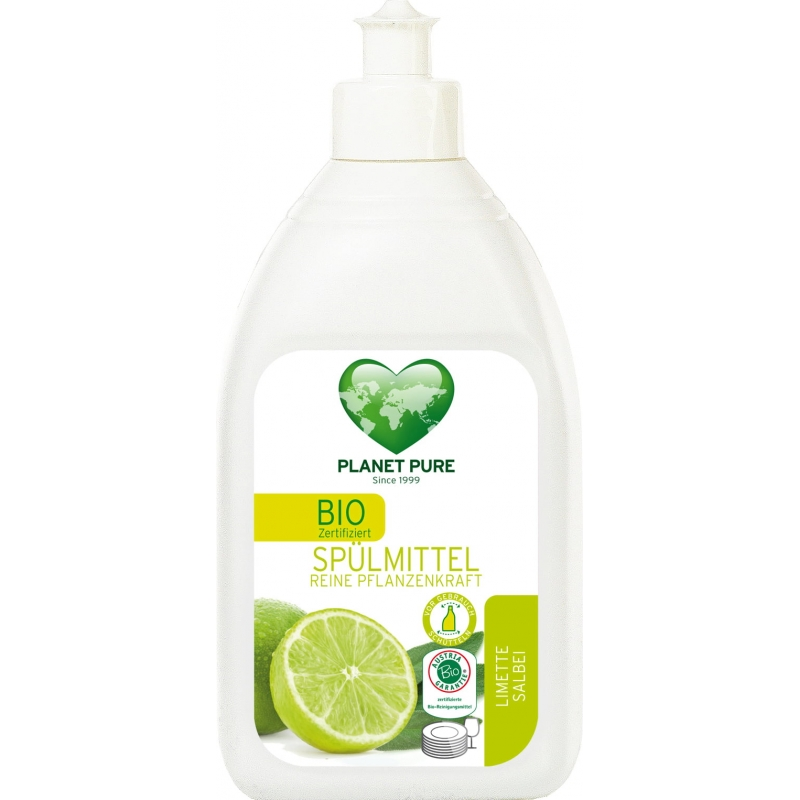 """Средство для мытья посуды """"Лимон и шалфей"""" Planet Pure органическое, 510 мл"""