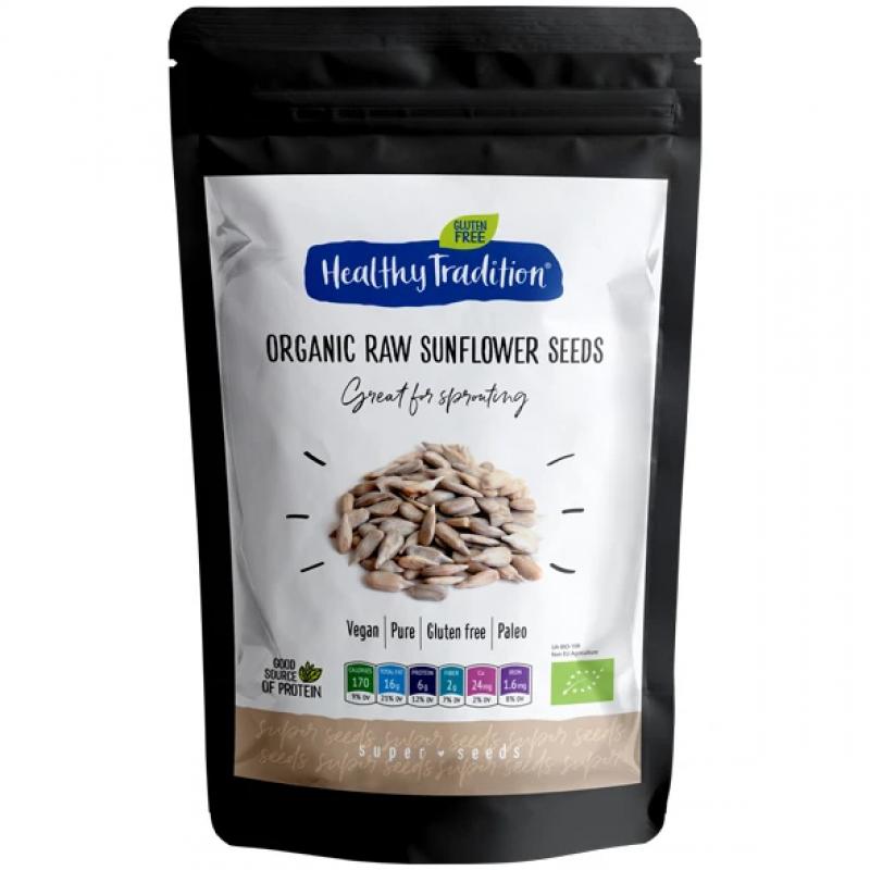 Семена подсолнечника очищенные сырые органические Healthy Tradition, 200 г