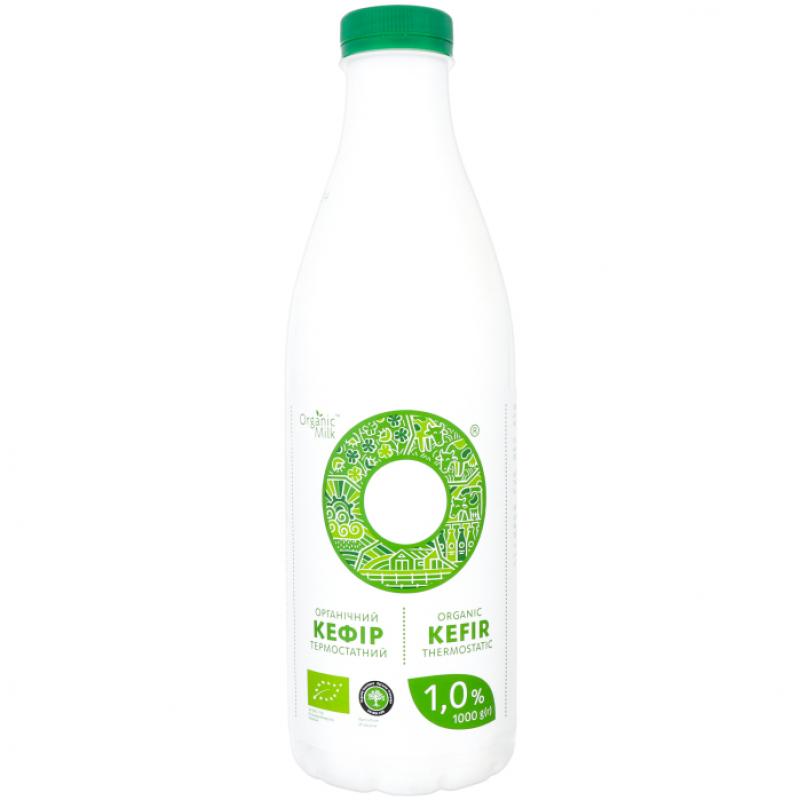 Кефир термостатный жирн. 1% Organic Milk органический, 1000 г