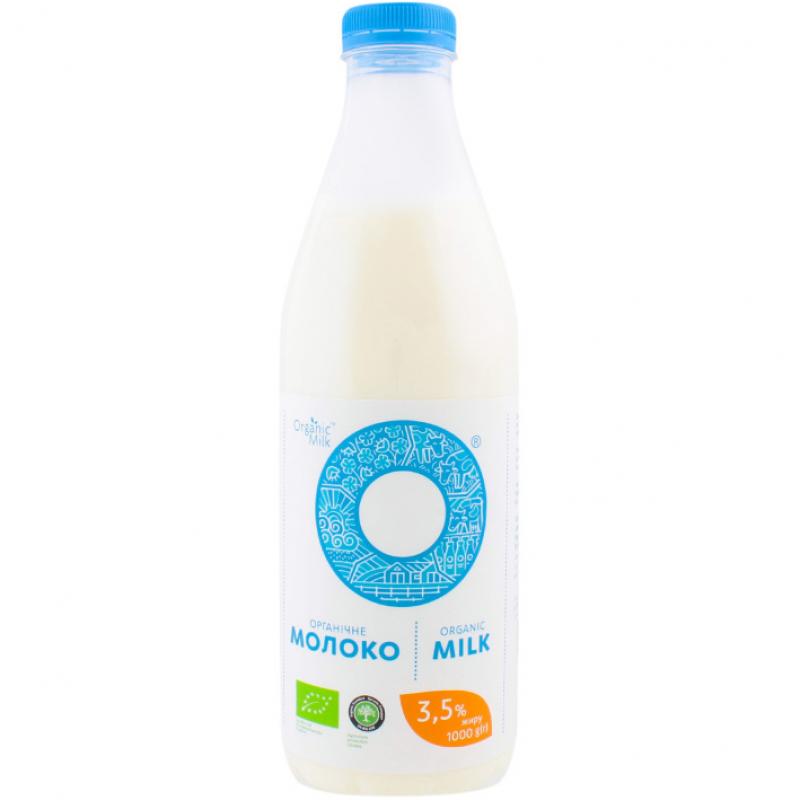 Молоко пастеризованное жирн. 3,5% Organic Milk органическое, 1000 г