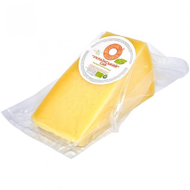 """Сыр твердый """"Украинский"""" Organic Milk органический жирн. 50% фасованный, кг"""