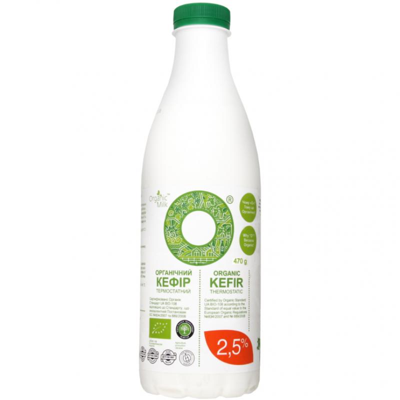 Кефир термостатный жирн. 2,5% Organic Milk органический, 470 г