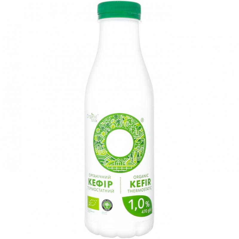 Кефир термостатный жирн. 1% Organic Milk органический, 470 г