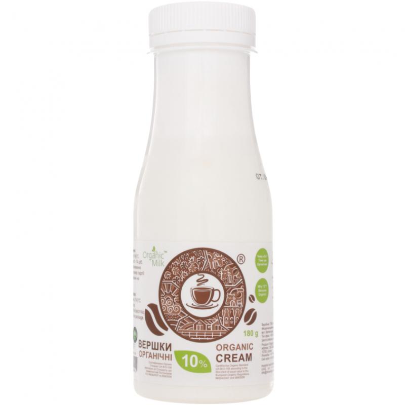 Сливки органические пастеризованные жирн. 10% Organic Milk, 180 г