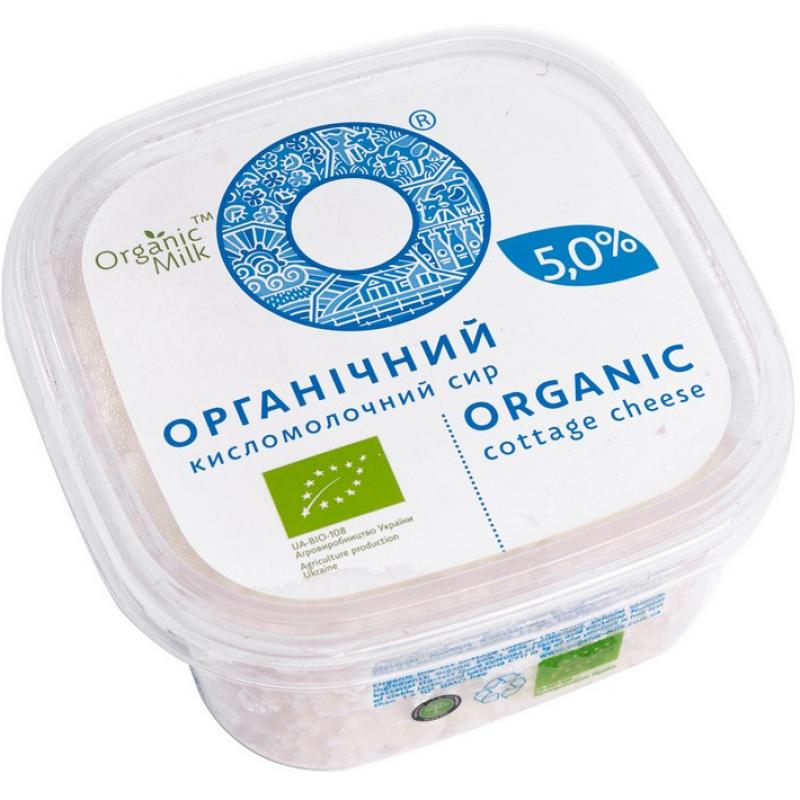 Творог Organic Milk органический жирн. 5%, 300 г