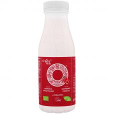 """Йогурт питьевой """"малина"""" жирн. 2,5% Organic Milk органический, 300 г (с пробиотиком)"""