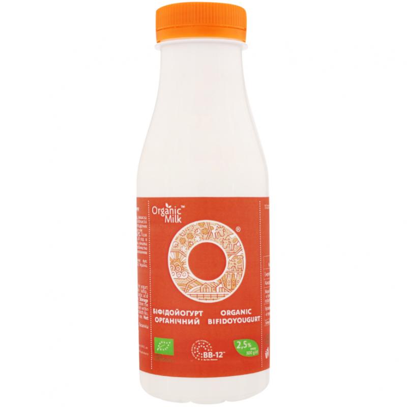 Бифидойогурт питьевой жирн. 2,5% Organic Milk органический, 300 г